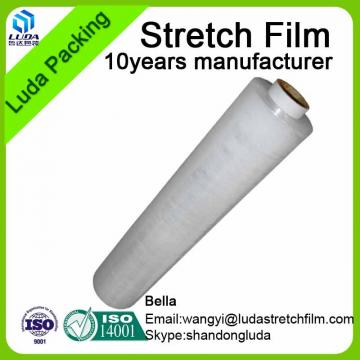 Tear resistant 12-35mic LLDPE Handle rolls stretch film packing film