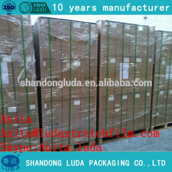 Transparent stretch film packaging film production