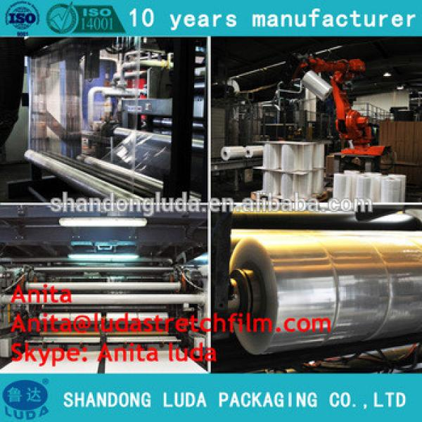 PE pallet cling wrap film/logistics wrapping film/plastic wrapping film