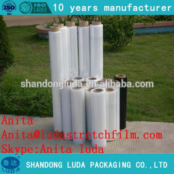 Supply 23 micron stretch film / LLDPE pallet polyole shrink wrapping