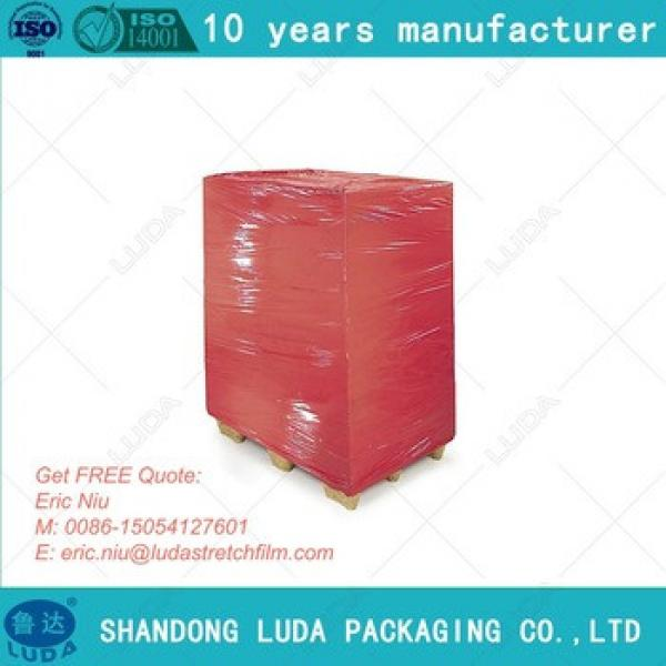High Impact Resistance Pallet Wrapper Red Cling Film