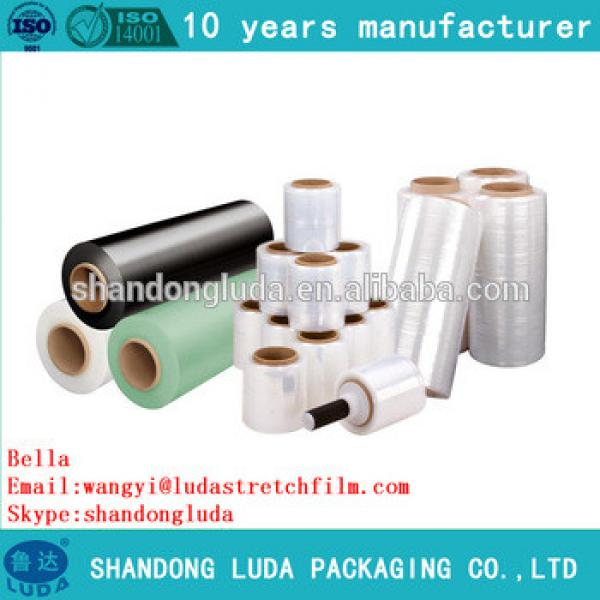 Luda black and clear mechanical LLDPE stretch film