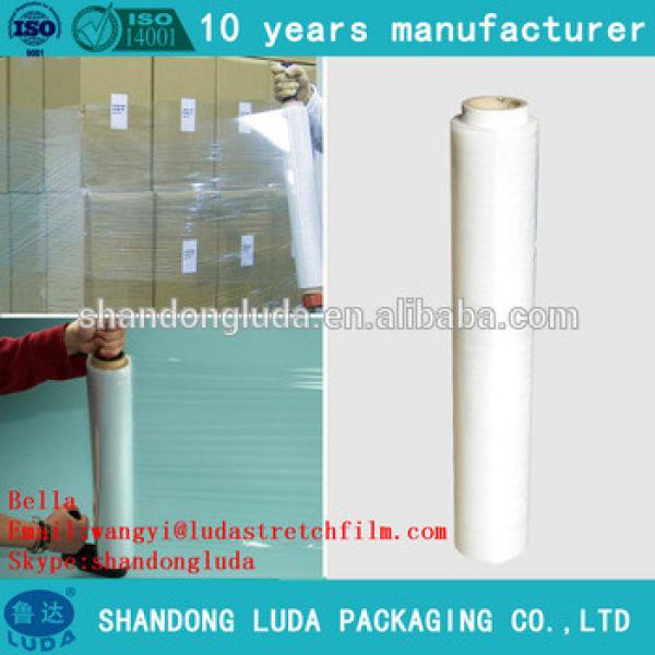 Transparent hand and mechanical pallet stretch film