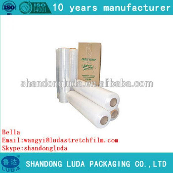 Luda hot selling clear hand and mechanical LLDPE film Plastic stretch wrap film