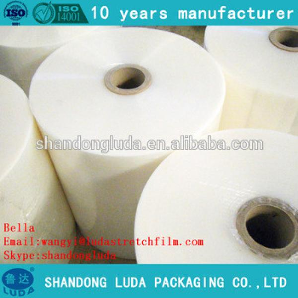 Luda supply of high-quality clear mechanical stretch film LLDPE packaging film
