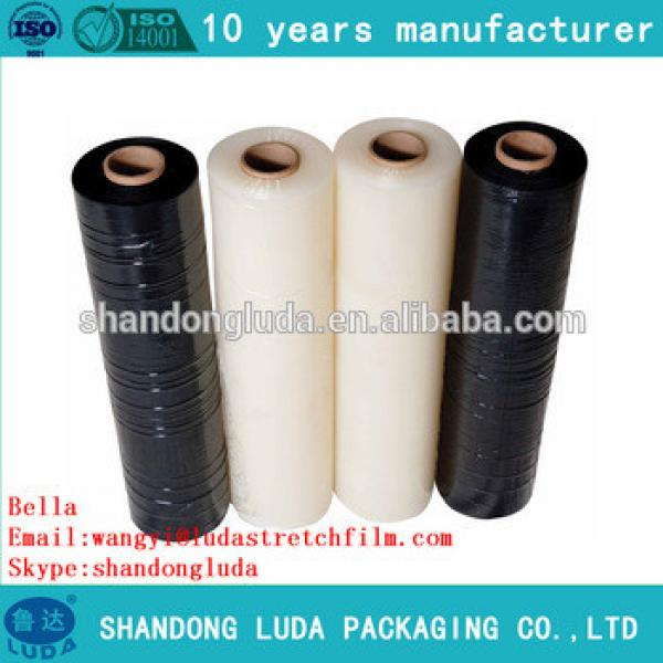 Luda supply of high-quality black and transparent stretch film LLDPE packaging film