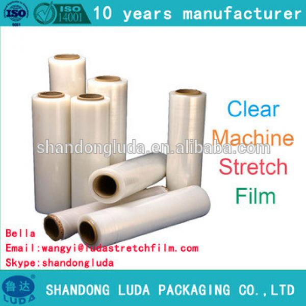 factory price good quality clear mechanical soft LLDPE stretch wrapping film