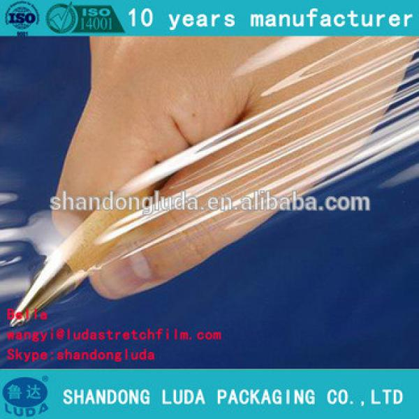 Luda factory price good quality transparent hand and mechanical soft LLDPE stretch wrapping film