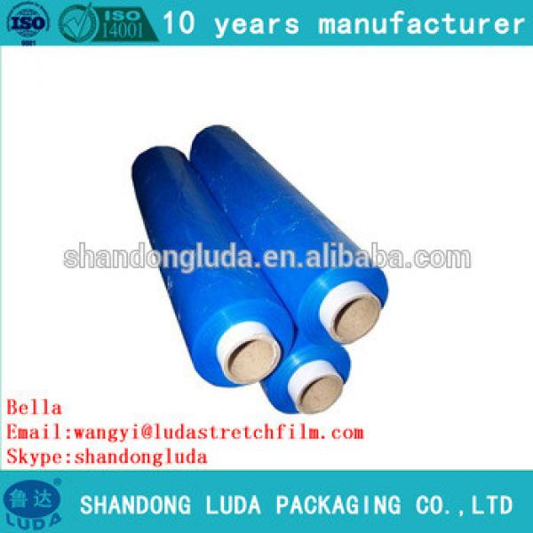 Luda factory price good quality color hand and mechanical soft LLDPE stretch wrapping film