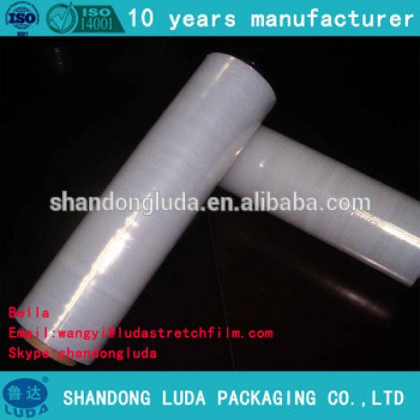 Alibaba supplier transparent LLDPE plastic stretch wrapping film
