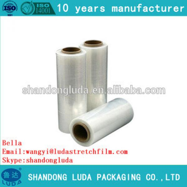 Alibaba supplier transparent mechanical LLDPE plastic stretch wrapping film