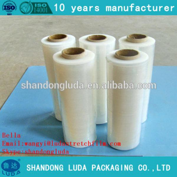 Alibaba supplier white mechanical LLDPE plastic stretch wrapping film