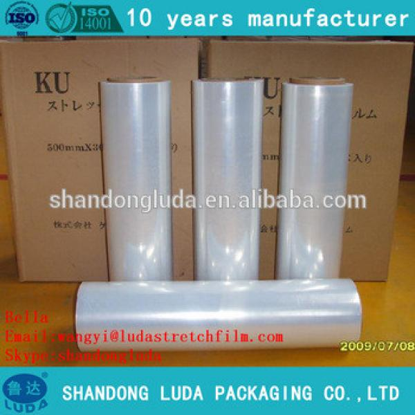 Luda supplier mechanical LLDPE plastic stretch wrapping film