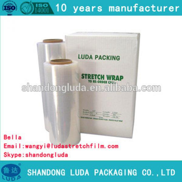 Luda Manufacturer white mechanical LLDPE Pallet Packaging Stretch Film