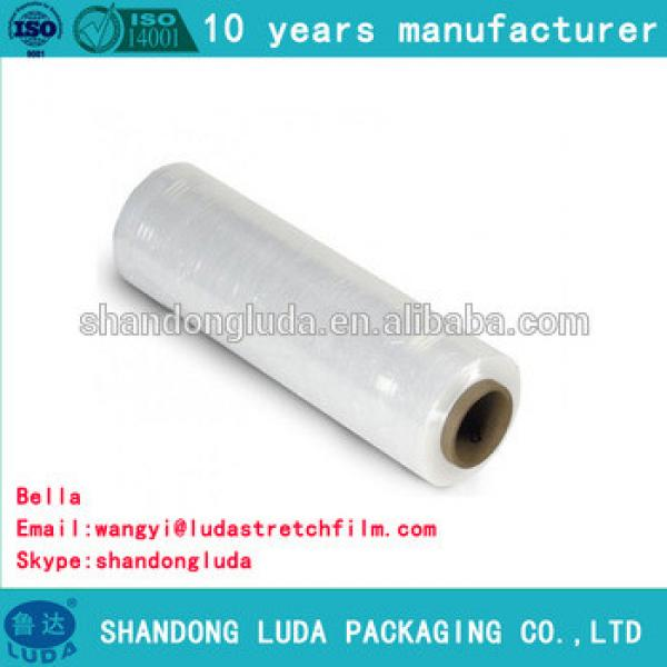 Luda 100% new material clear LLDPE plastic stretch wrapping film