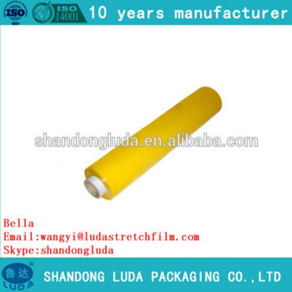 Luda 100% new material color handmade LLDPE plastic stretch wrapping Film