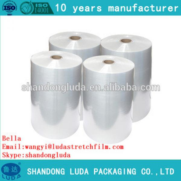 Luda 100% new material white hand and mechanical LLDPE plastic stretch wrapping Film