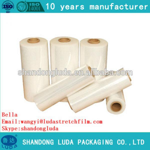 Luda supplier price clear handmade LLDPE plastic stretch wrapping film roll