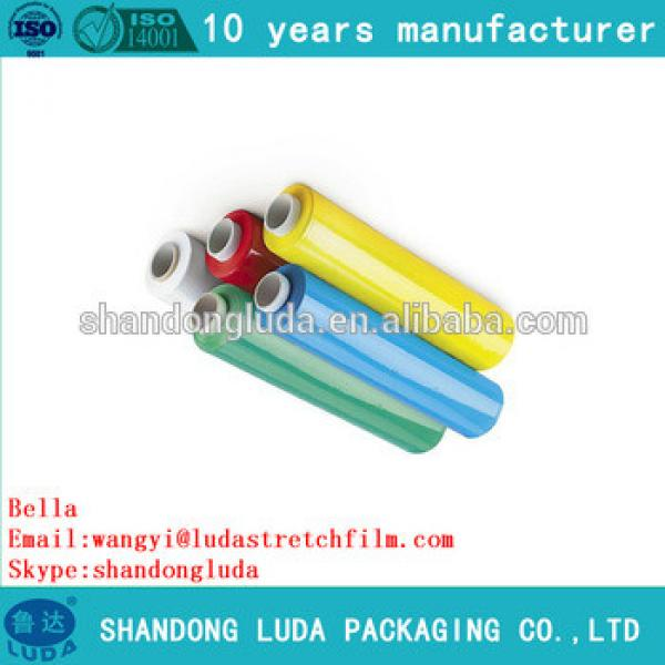 Luda supplier price color handmade LLDPE plastic stretch wrapping film roll
