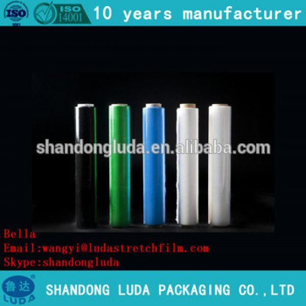 China supplier price color LLDPE plastic stretch wrapping film roll