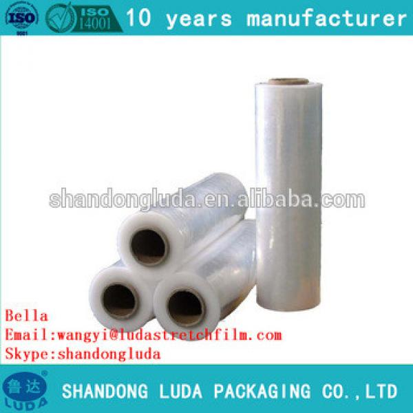 China supplier price clear hand and mechanical LLDPE plastic stretch wrapping film roll