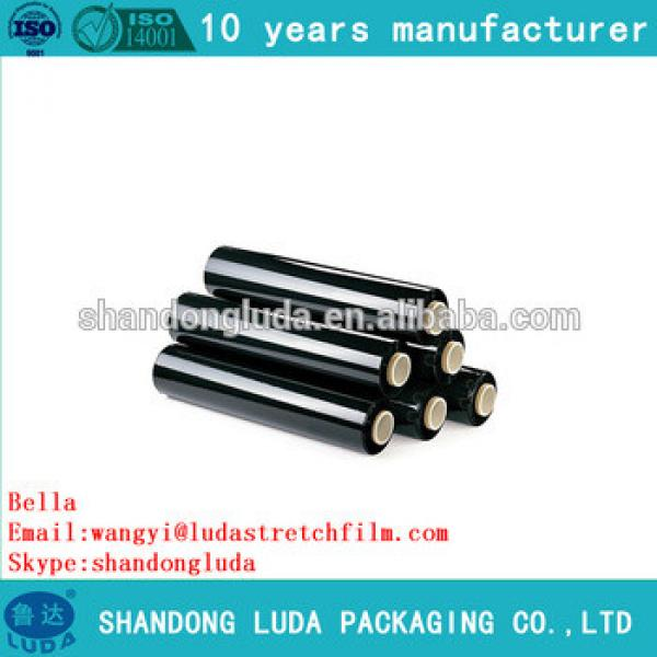 China supplier price black mechanical LLDPE plastic stretch wrapping film roll