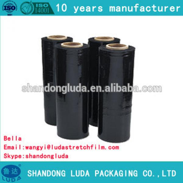 ShanDongLuda factory price wholesale black LLDPE stretch wrapping film