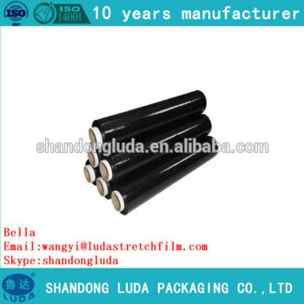 ShanDongLuda factory price wholesale black mechanical LLDPE stretch wrapping film