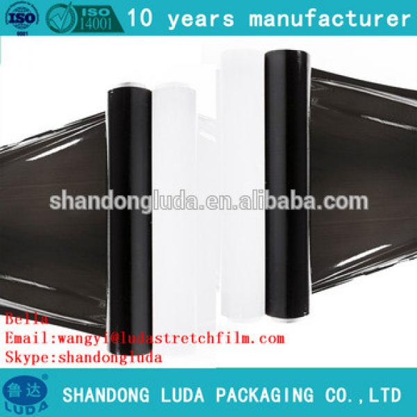 ShanDongLuda factory price black wholesale LLDPE packing stretch wrap film