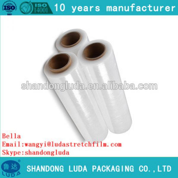 ShanDongLuda factory price transparent wholesale LLDPE packing stretch wrap film