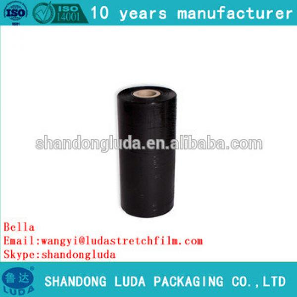 ShanDongLuda factory price wholesale black mechanical LLDPE packing stretch wrap film