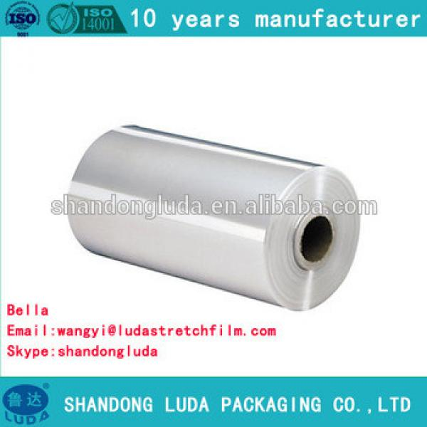 China Luda hot sale high quality transparent handmade LLDPE plastic stretch wrapping film