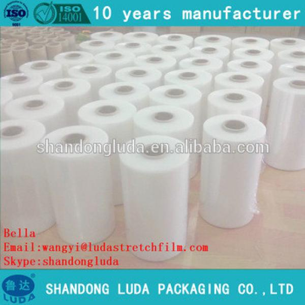 ShanDong Luda hot sale high quality transparent hand and mechanical LLDPE plastic stretch wrapping film
