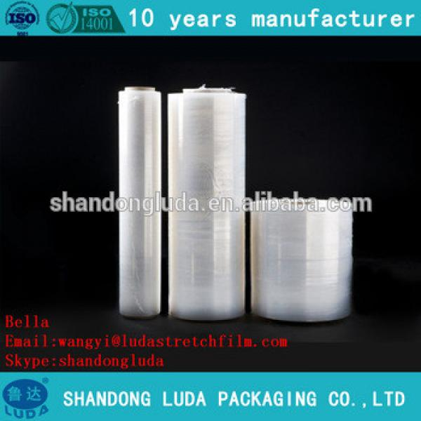 ShanDong Luda hot sale high quality white hand and mechanical LLDPE plastic stretch wrapping film
