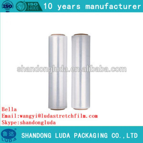 China Luda hot sale high quality mechanical LLDPE plastic stretch wrapping film