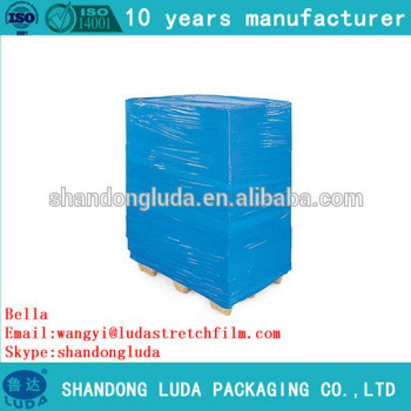 ShanDong Luda hot sale high quality blue mechanical LLDPE plastic stretch wrapping film