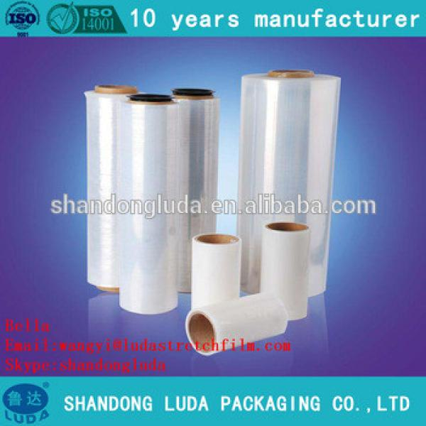 China Luda supplier newest soft white handmade LLDPE stretch wrapping film