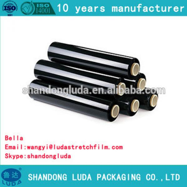 China Luda supplier newest soft black LLDPE stretch wrapping film
