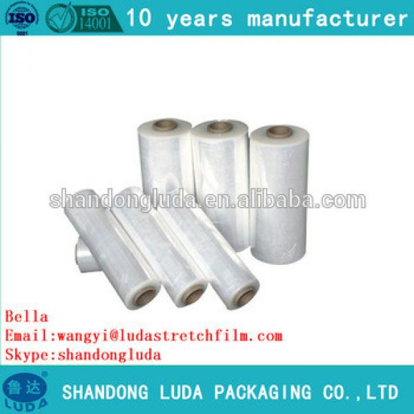 China Luda supplier newest soft transparent handmade LLDPE stretch wrapping film