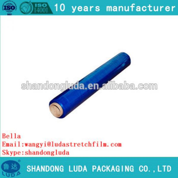 ShanDong Luda supplier newest soft blue handmade LLDPE stretch wrapping film