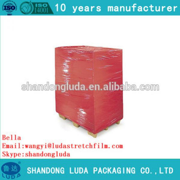 China Luda supplier newest soft color mechanical LLDPE stretch wrapping film