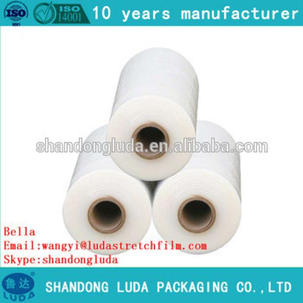ShanDong Luda manufactures white handmade LLDPE hot forming stretch film roll