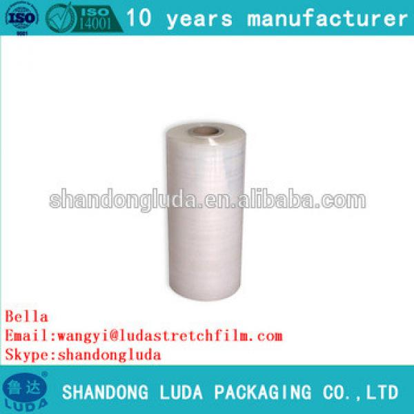 ShanDong Luda manufactures clear handmade LLDPE hot forming stretch film roll