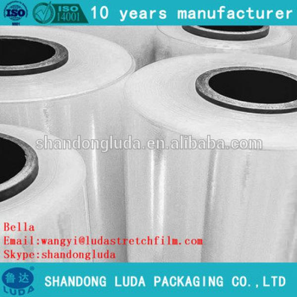 ShanDong Luda manufactures transparent LLDPE plastic stretch film roll