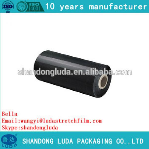 ShanDong Luda 2016 best sales black handmade LLDPE packing material stretch film roll