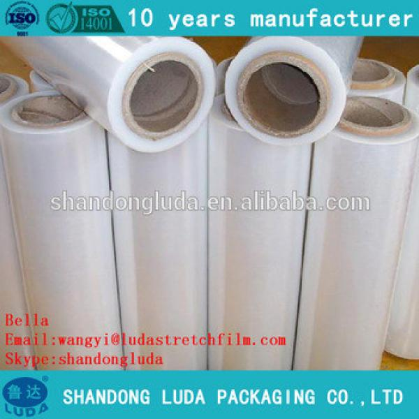 ShanDong Luda 2016 best sales clear mechanical LLDPE packing material stretch film